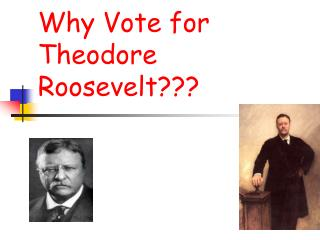 Why Vote for Theodore      Roosevelt