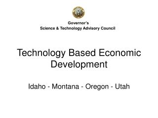 Technology Based Economic Development