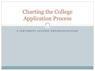 Charting the College Application Process