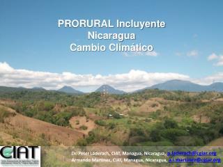 PRORURAL Incluyente Nicaragua Cambio Clim tico