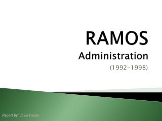 PHC - RAMOS Administration ©JOVIEDAYON