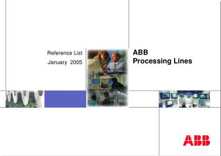 ABB  Processing Lines