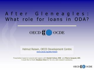 After Gleneagles:  What role for loans in ODA