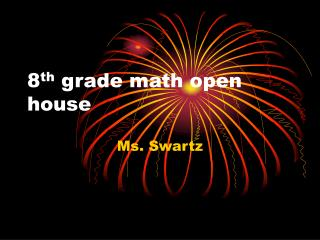 8th grade math open house