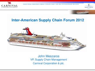 Inter-American Supply Chain Forum 2012