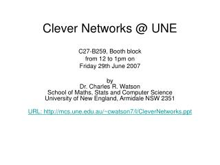 Clever Networks  UNE