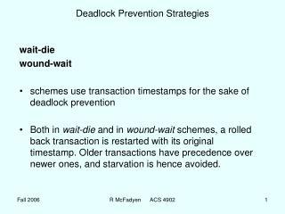 Deadlock Prevention Strategies