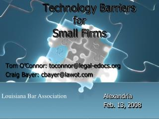 Technology Barriers