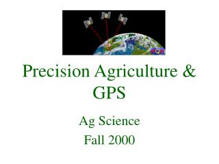 Precision Agriculture  GPS