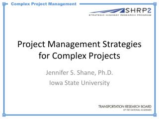 Project Management Strategies for Complex Projects