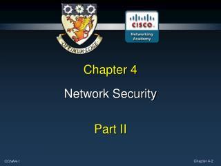 Network Security  Part II