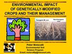 Peter Motavalli Environmental Soil Science Program Email: motavallipmissouri