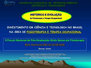 INVESTIMENTO EM CI NCIA E TECNOLOGIA NO BRASIL  NA  REA DE FISIOTERAPIA E TERAPIA OCUPACIONAL