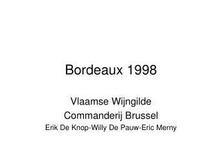 Bordeaux 1998
