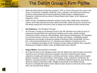The Dahlin Group   Firm Profile
