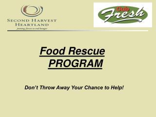 Food Rescue    PROGRAM