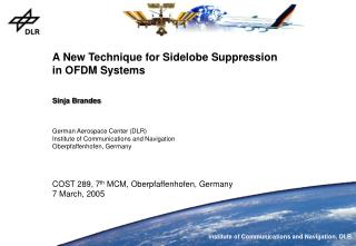 A New Technique for Sidelobe Suppression in OFDM Systems