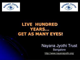 Nayana Jyothi Trust Bangalore nayanajyothi