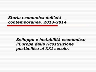 Storia economica dell et  contemporanea