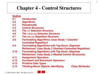 Chapter 4 - Control Structures