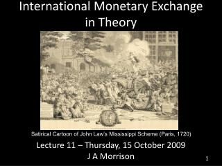 International Monetary Exchange in Theory