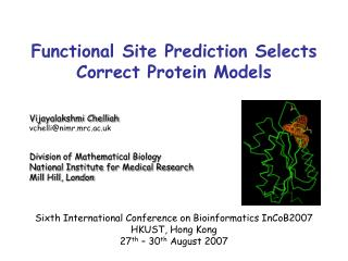Functional Site Prediction Selects Correct Protein Models