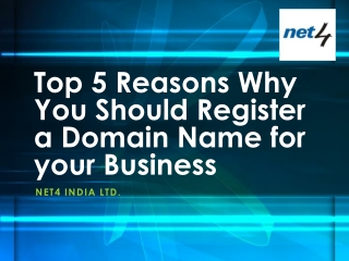 Top 5 Reasons Why You Should Register a Domain Name