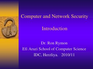 Computer and Network Security  Introduction