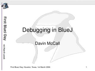 Debugging in BlueJ