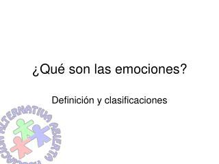 Qu  son las emociones