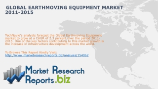 Global Earthmoving Equipment Market 2011-2015