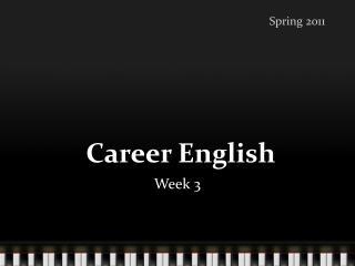 Career_U1L2_Preparing a Job Application Package I
