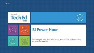 BI Power Hour