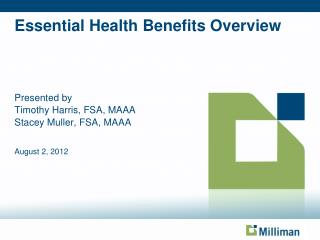 Essential Health Benefits Overview