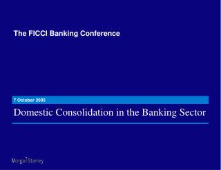 The FICCI Banking Conference