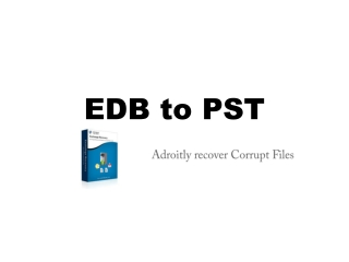 EDB to PST Conversion