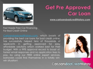 Pre approved for auto loan