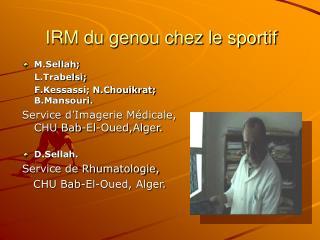 IRM du genou chez le sportif