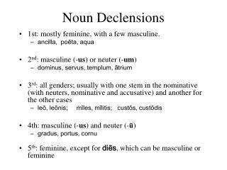 Noun Declensions
