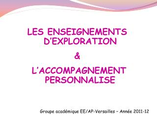 Groupe acad mique EE