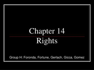 Chapter 14 Rights