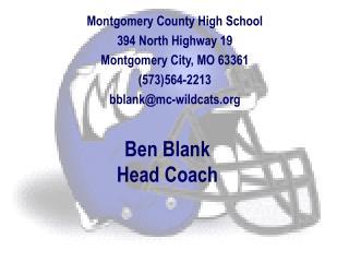 Ben Blank Head Coach