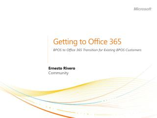 Getting to Office 365