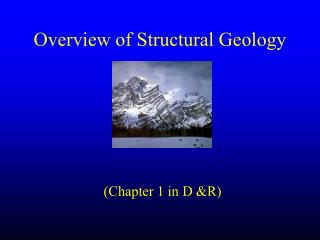 Overview of Structural Geology