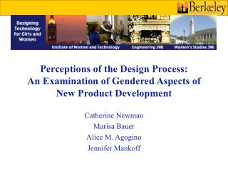 Perceptions of the Design Process:  An Examination of Gendered Aspects of New Product Development