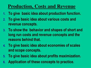 Production Cost  Revenue