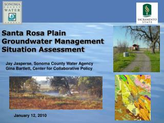 Santa Rosa Plain Groundwater Management Situation Assessment