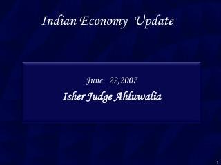 Indian Economy  Update