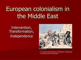 European colonialism in the Middle East
