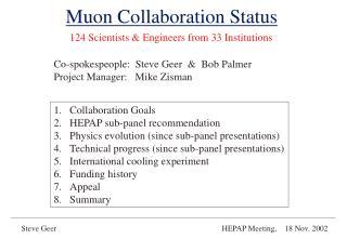 Muon Collaboration Status